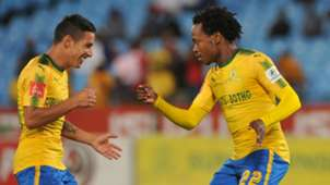 Sundowns Gaston Sirino and Percy Tau