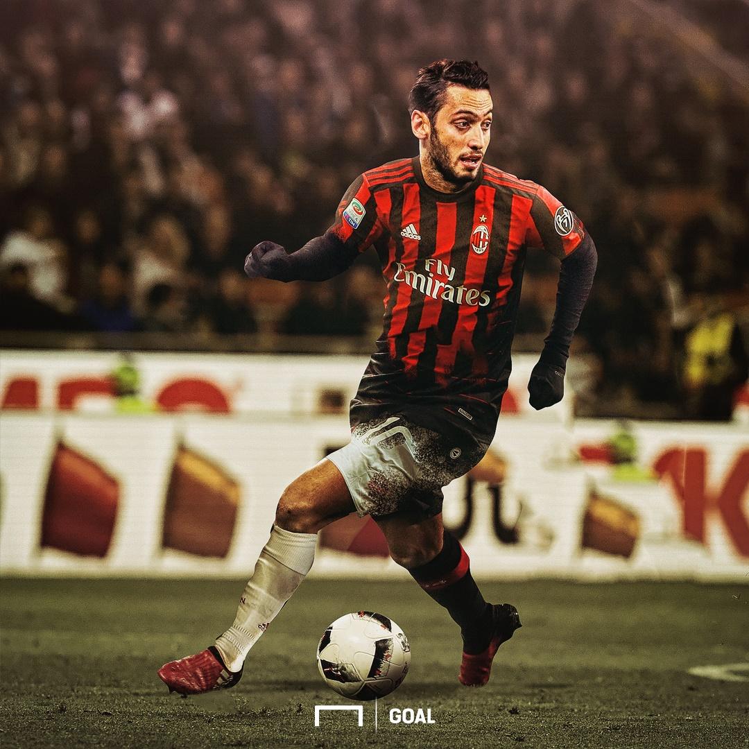 GFX Hakan Calhanoglu AC Milan Shirt Burst