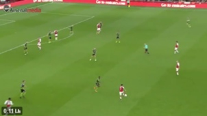 captura TV Alexis Sánchez. Arsenal-Doncaster