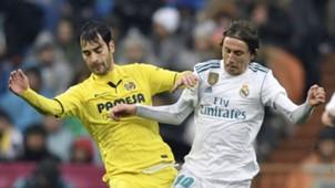 Manuel Trigueros Munoz Luca Modric Villarreal Real Madrid