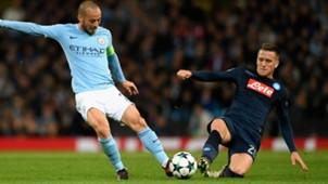 Silva Zielinski Manchester City Napoli Champions League