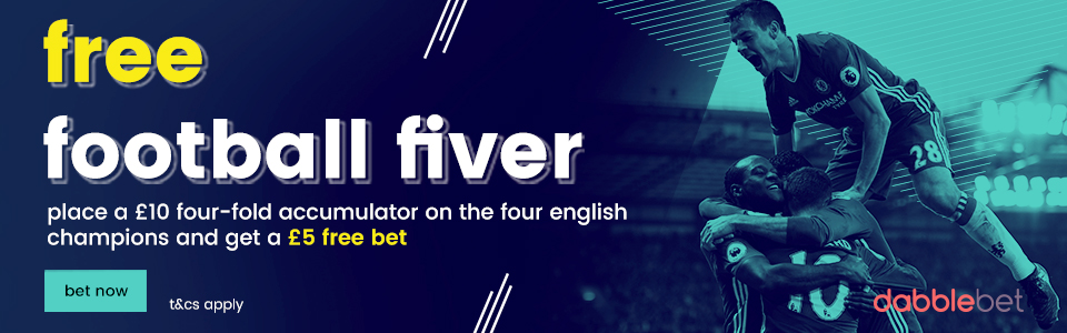 dabble free football fiver
