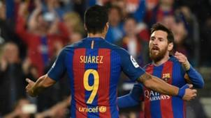 Lionel Messi Luis Suarez Barcelona Real Sociedad La Liga