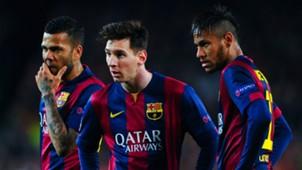 Dani Alves Lionel Messi Neymar Barcelona