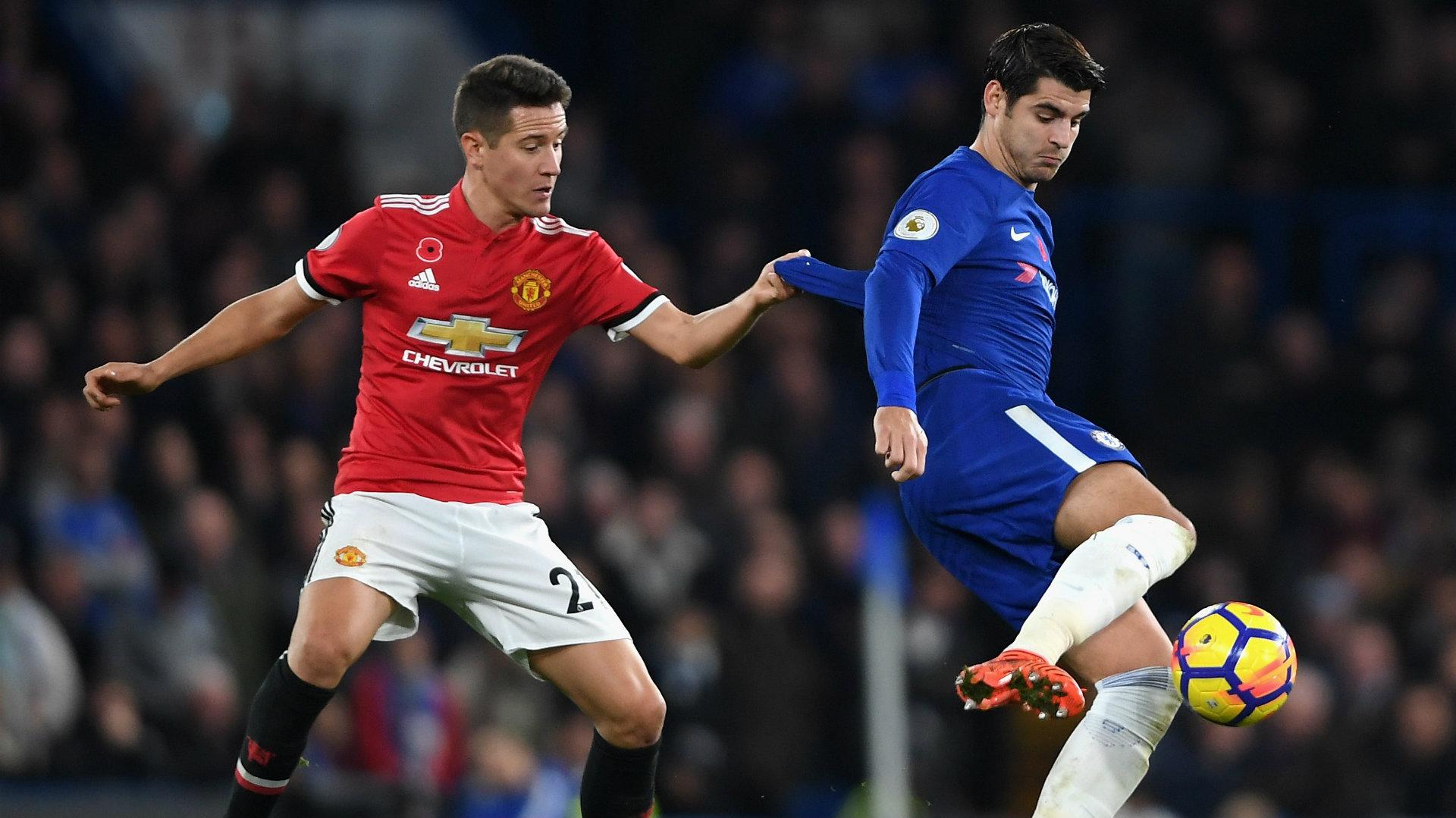 Ander Herrera, Alvaro Morata, Chelsea v Man Utd 17/18