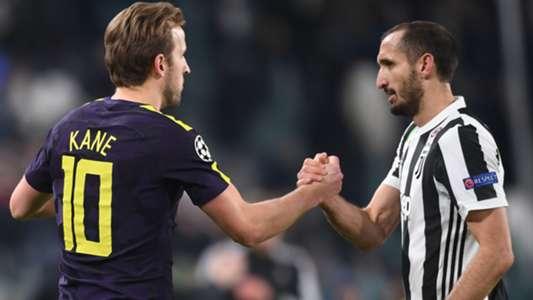 Kane Chiellini Juventus Tottenham Champions League