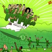 Chapecoense cartoon - 28/11/2017