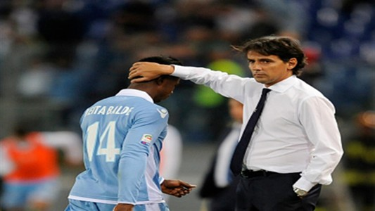 Simone Inzaghi and Keita Balde