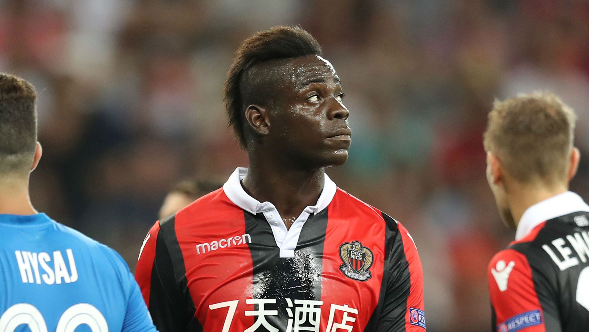 Mario Balotelli's argument with officials angers Nice coach Lucien Favre