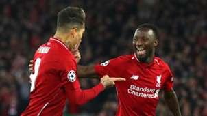 Naby Keita, Roberto Firmino, Liverpool vs Porto, UCL 2018-19