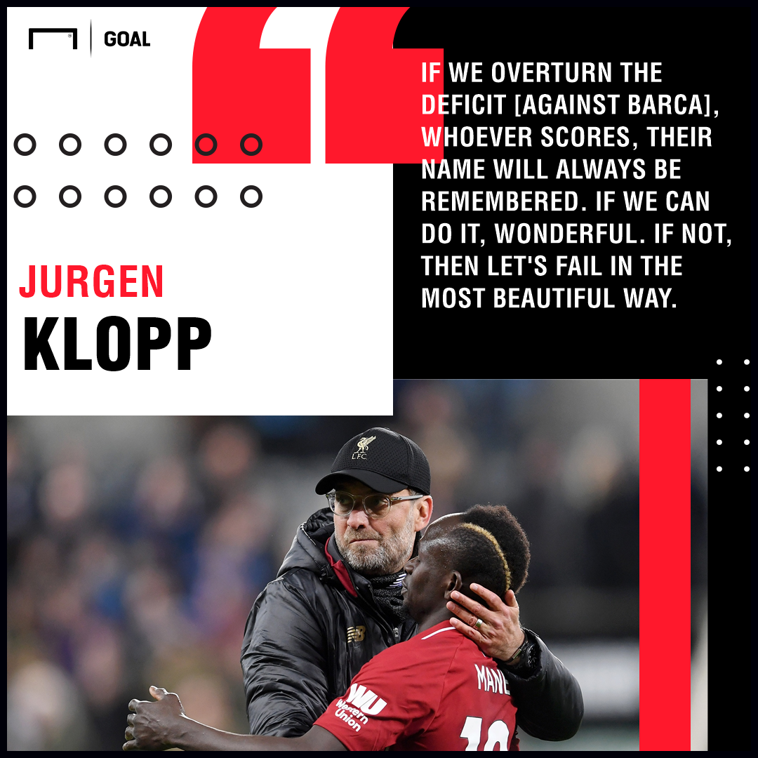Klopp: Liverpool need miracle to knock out Barca