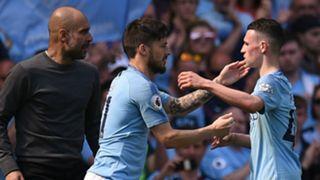 Phil Foden and David Silva, Manchester City