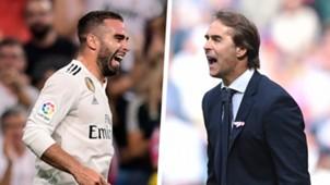 Dani Carvajal Julen Lopetegui Real Madrid 2018-19
