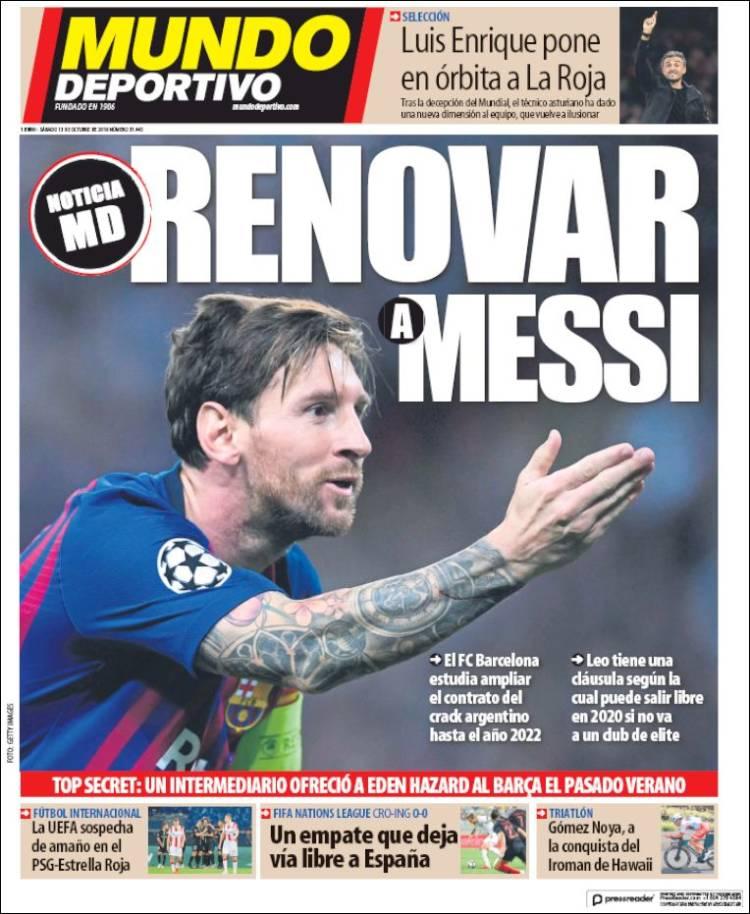 Mundo Deportivo cover 13102018