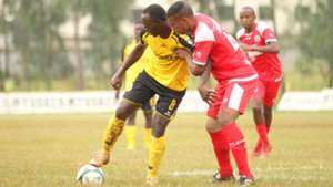 Brian Osumba of Tusker v Mohammed Hassan of Ulinzi Stars.