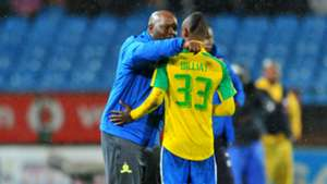 Pitso Mosimane and Khama Billiat - Sundowns v SuperSport United