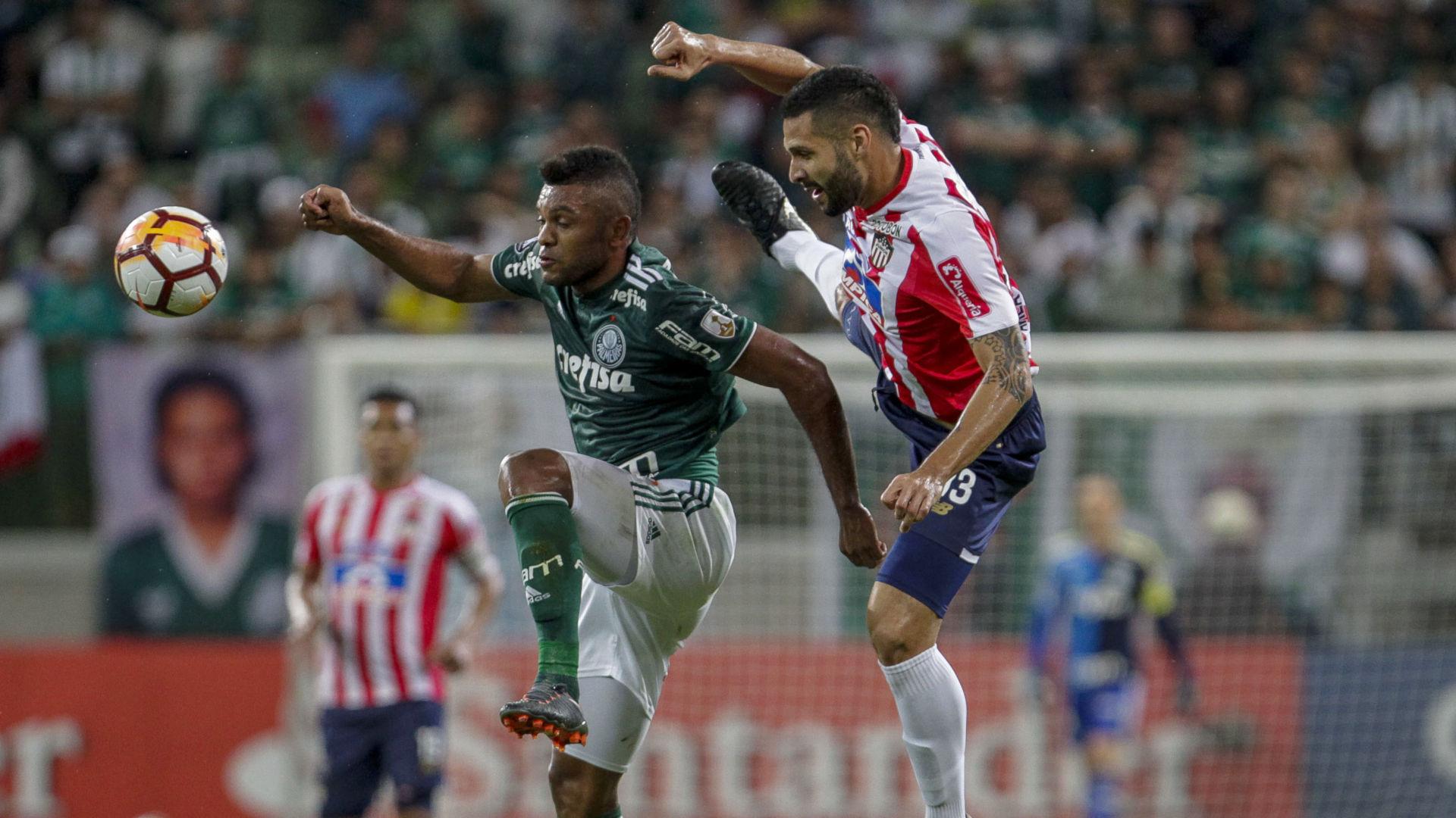 Jonathan Avila Miguel Borja Palmeiras Junior Barranquilla Copa Libertadores 16052018