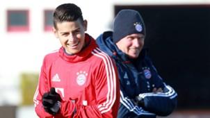 *GER ONLY* James Rodriguez Jupp Heynckes FC Bayern München