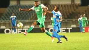 Gor Mahia striker Jacques Tuyisenge v Thierry Manzi of Rayon Sports.