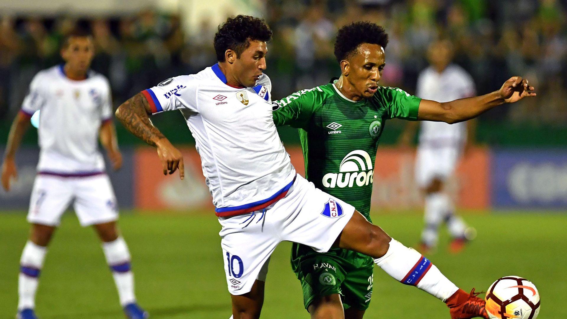 Tabare Viudez Lucas Mineiro Chapecoense Nacional Montevideo Copa Libertadores 31012018