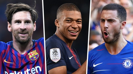 Lionel Messi Kylian Mbappe Eden Hazard