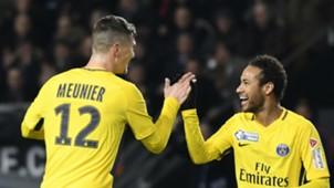 Thomas Meunier Neymar Rennes PSG Coupe de la Ligue 30012018