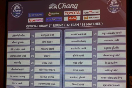 Image result for จับติ้วช้างเอฟเอคัพ 2017 รอบ 8 ทีม