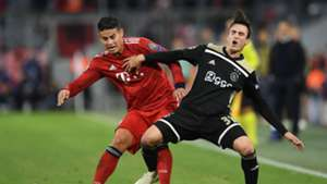 James Rodriguez FC Bayern Champions League 02102018