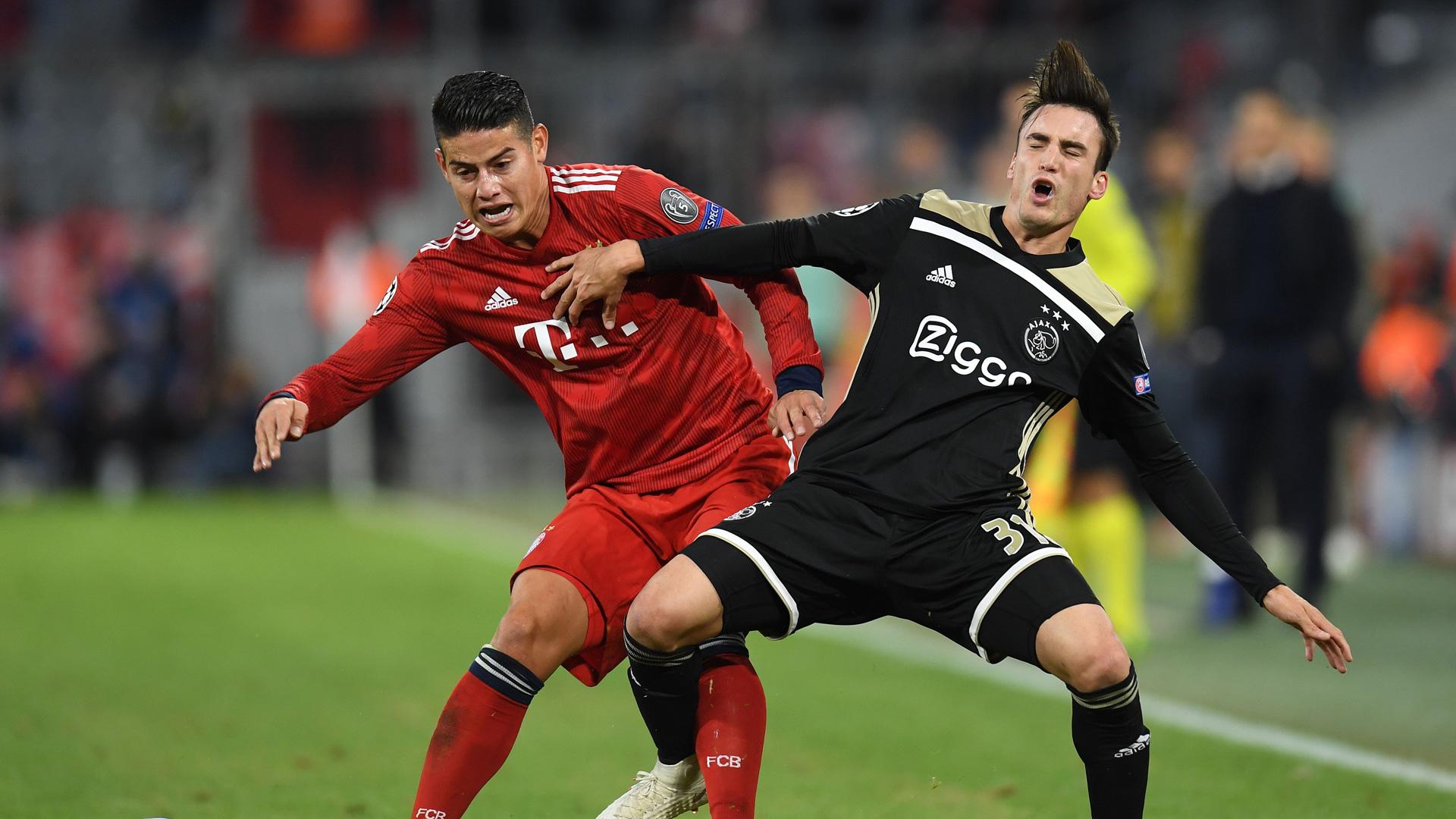 James Rodriguez FC Bayern Champions League 02102018