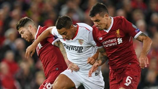 Wissam Ben Yedder Alberto Moreno Dejan Lovren Liverpool Sevilla Champions League 13092017