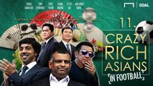 11 Crazy Rich Asians in Football cover photo