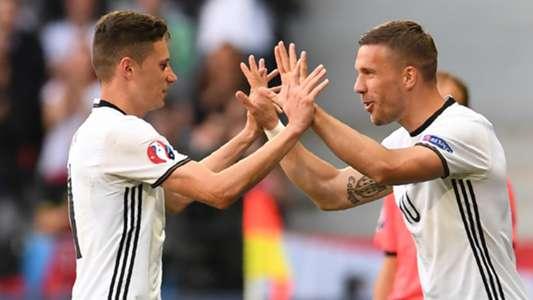 Julian Draxler Lukas Podolski Germany 06262016
