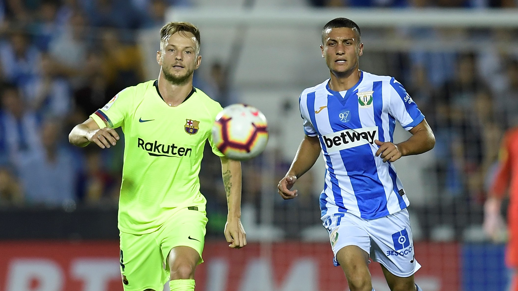 Ivan Rakitic Oscar Rodriguez Leganes Barcelona LaLiga 26092018