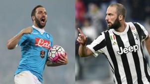 Collage Higuain Napoli Juventus