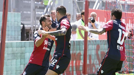 Marco Borriello Marco Sau Diego Farias Cagliari Empoli Serie A