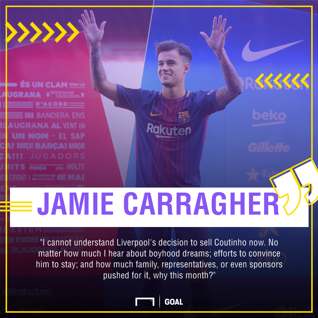 Philippe Coutinho Jamie Carragher why now