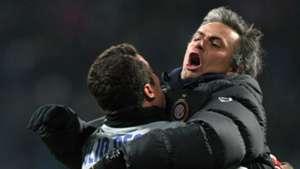 Jose Mourinho Julio Cesar Inter