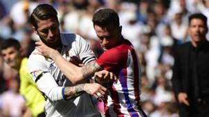 Sergio Ramos Yannick Carrasco Diego Simeone Real Madrid Atletico LaLiga 08042017