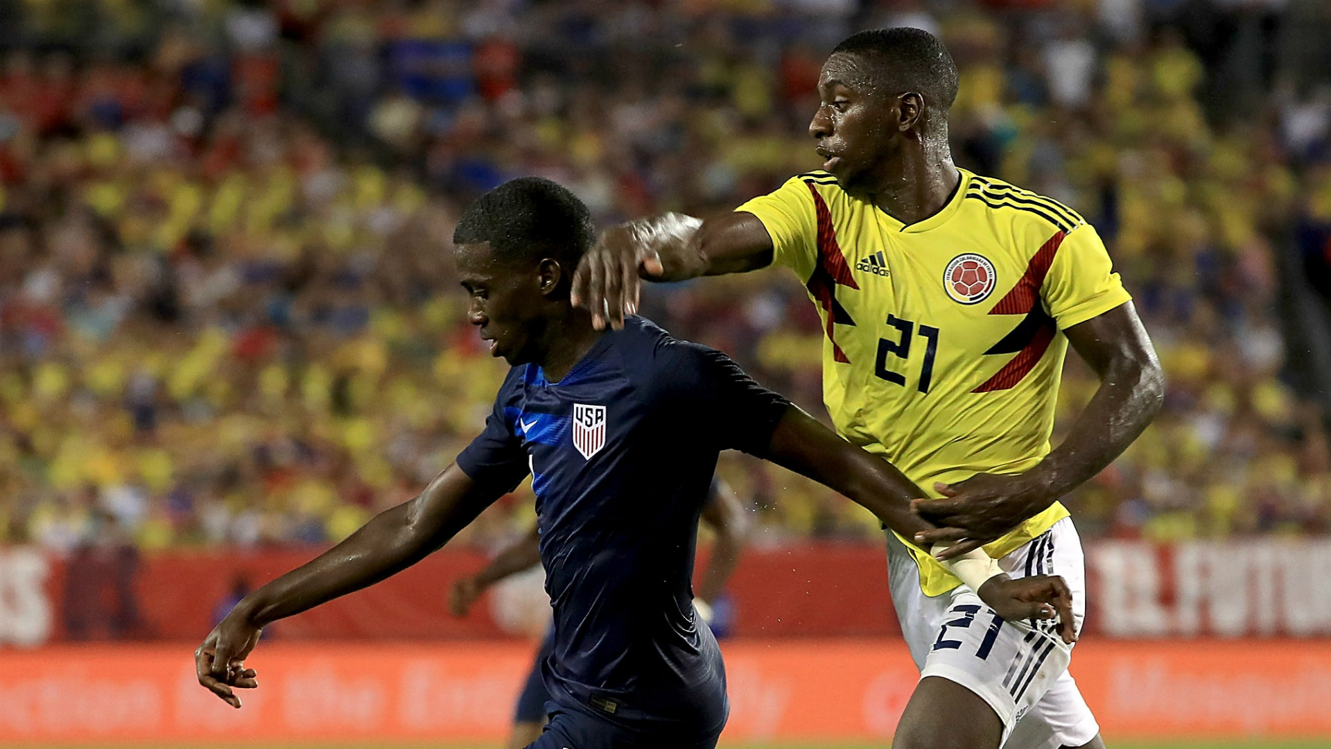 Tim Weah USA Colombia 10112018