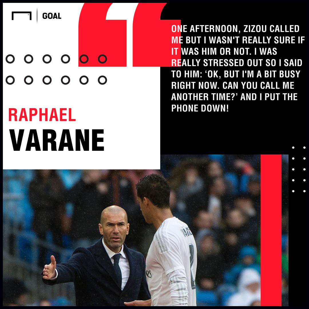 Raphael Varane Zinedine Zidane Real Madrid PS