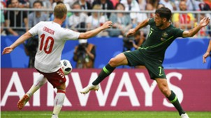 Christian Eriksen Denmark Australia WC 2018