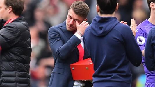 Ramsey rơi lệ trong ngày chia tay khán giả Arsenal trên sân Emirates   Goal.com