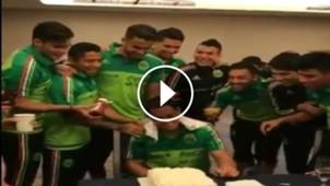 chicharito festejo cumpleaños selección 2017