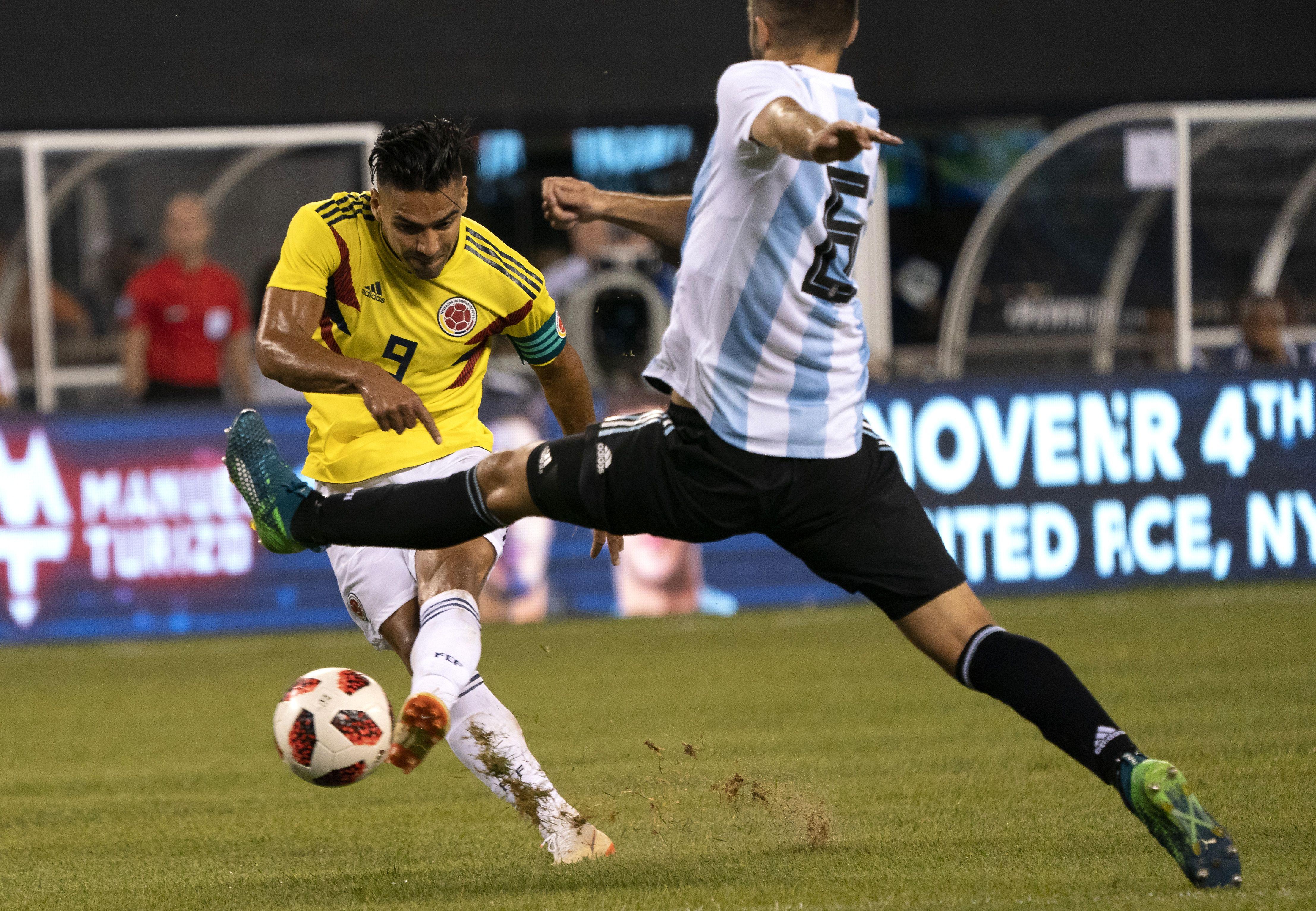 Falcao Colombia - Argentina Amistoso 2018