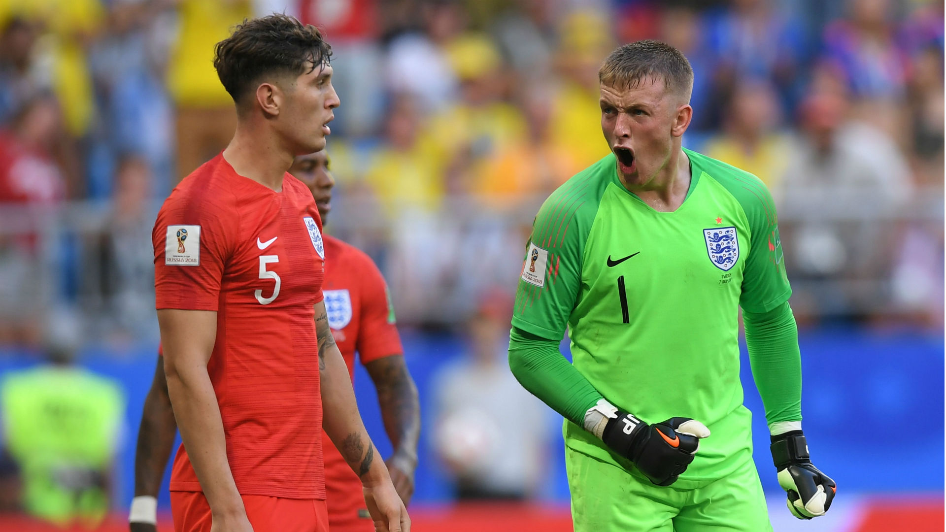 England Hero Pickford Laughs Off Hand Injury