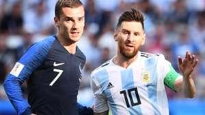 Griezmann Messi França Argentina 03 09 2018