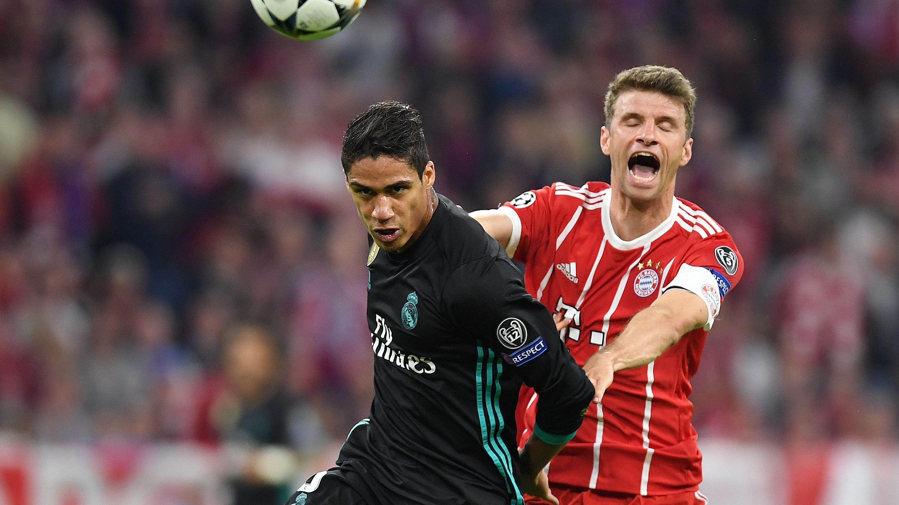Raphael Varane Thomas Mueller Bayern Munich Real Madrid UCL 25042018