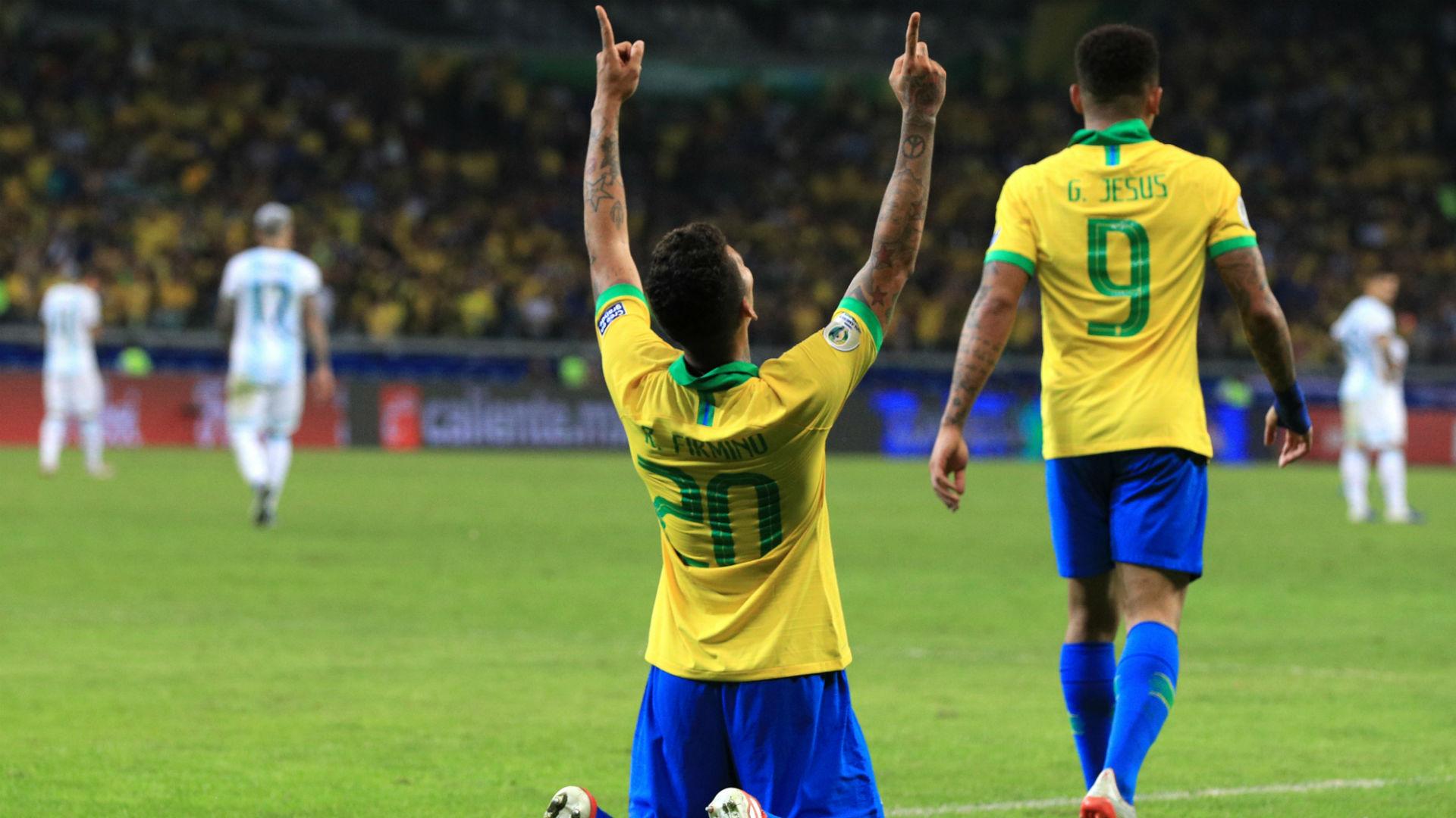 Roberto Firmino Brazil Argentina Copa America 2019