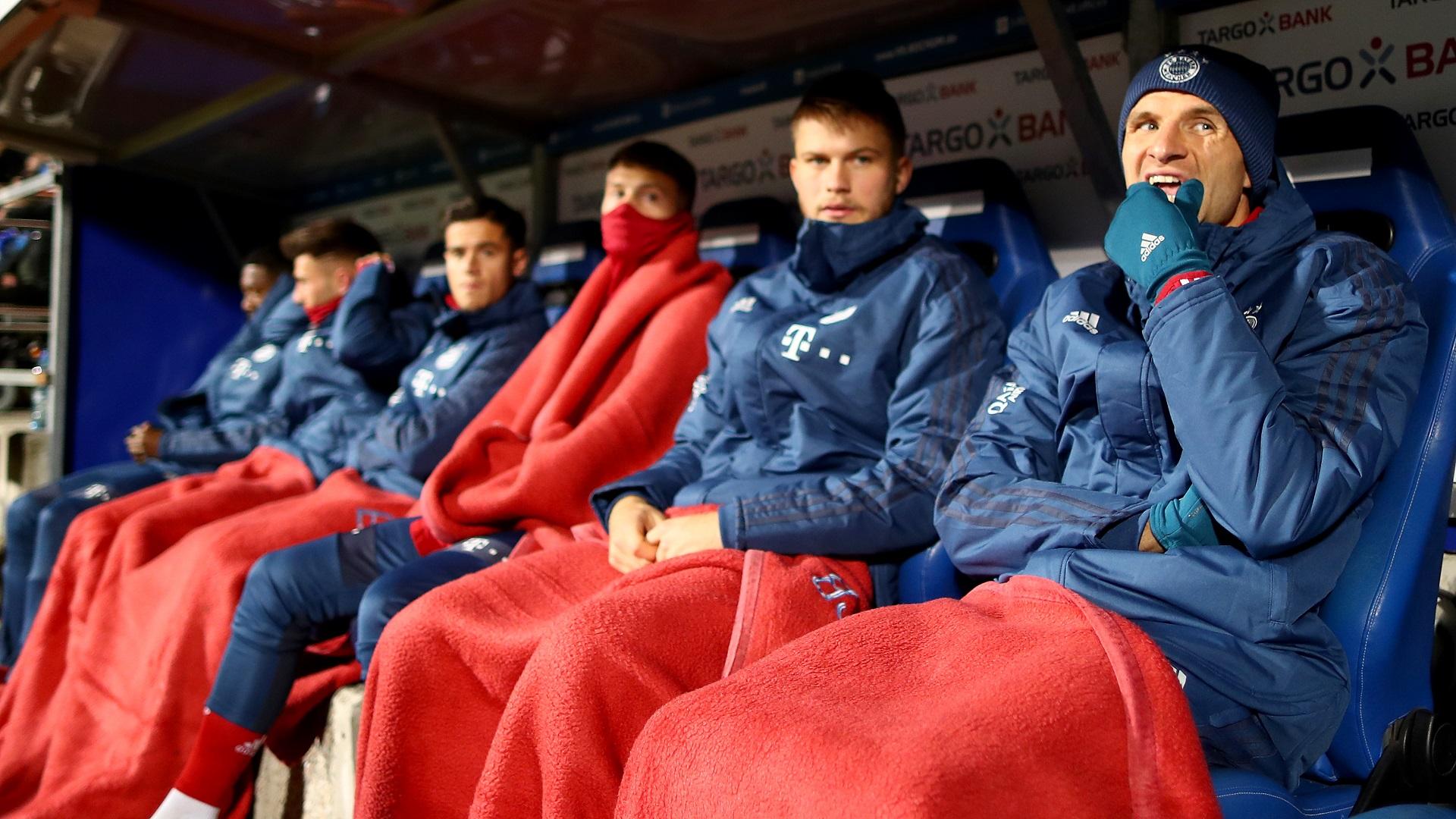 Thomas Muller Bayern Munich bench 2019-20