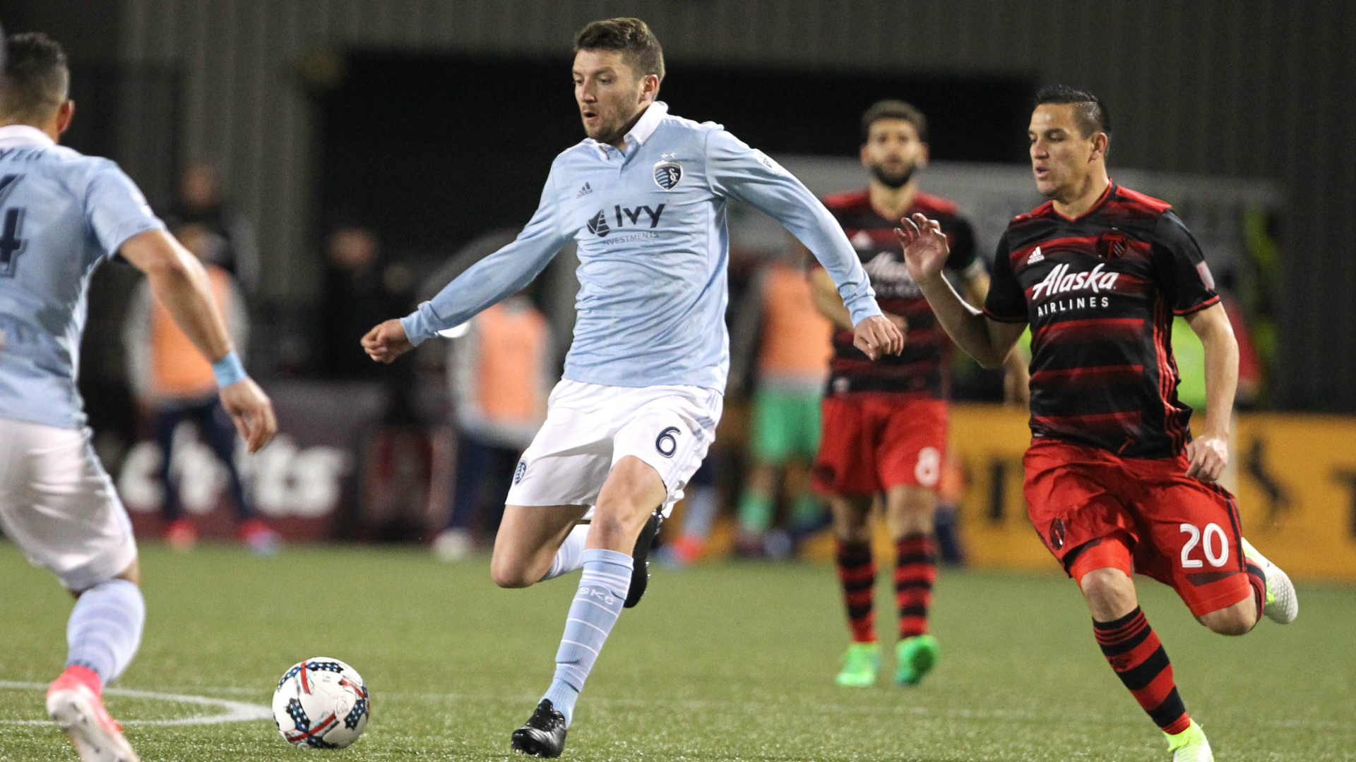 Ilie Sanchez Sporting Kansas City Portland Timbers